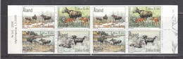Aland 2000 - Fauna: The Moose, Mi-Nr. 171/74 In Booklet, MNH** - Ålandinseln