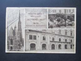 AK Österreich 1911 Friedrich Kargl's Restaurant Deutsches Haus Wien Rückwärts Der Stephanskirche Mehrbildkarte! - Stephansplatz
