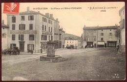 Saint-Félicien La Place Hôtel FOUARD Fontaine * Ardèche 07410 - Saint Félicien  Haut-Vivarais * Ardèche Illustrée 3646 - Francia