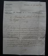 Rabastens De Bigorre (hautes Pyrénées) 1811 Lettre Du Maire Au Maire De Haget (Gers) - Storia Postale