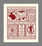 Diagramme Point De Croix - Abécédaire De L'amitié (197) - Cross Stitch
