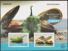 Spagna 2015 Gastronomia Galicia BF 1v MNH/** - Blocchi & Foglietti