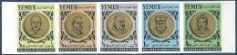1966 YEMEN Royaume Michel 202A-6A ND** Kennedy, Churchill, Nehru - Yémen