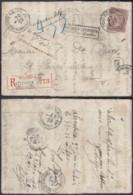 BELGIQUE COB 61 SUR LETTRE REC ETTERBEEK 13/12/1902 + RETOUR A L ENVOYEUR (DD) DC-7088 - 1893-1800 Fijne Baard