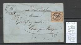 France - Lettre Chargée - GC4403 - St Hippolyte Pour Cuse - Rougemont - Doubs -  Yvert 23 - Storia Postale