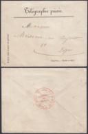 "FRANCE DEPECHE TELEGRAPHIQUE DE CHAEON 1840 VERS DIJON ""MODELE N° 329""(DD) DC-6957 - Telegramas Y Teléfonos"