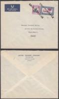 """SOUDAN LETTRE DE KHARTOUM PAR AVION VERS """"SAINTE MARIE AUX MINES"""" ANNULE PAR LA GRIFFE  (DD) DC-6965 - Soudan (...-1951)"""