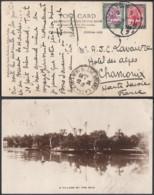 "SOUDAN CP DE KHARTOUM ""A VILLAGE BY THE NILE""29/06/1934 VERS CHAMONIX  (DD) DC-6966 - Soudan (...-1951)"