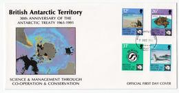 British Antarctic Territory 1991 Antarctic Treaty Anniversary FDC B200225 - FDC