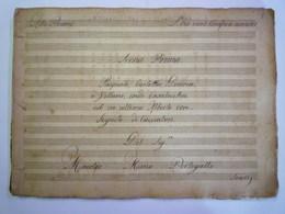 GP 2020 - 2336  Partition Musicale Manuscrite Date Inconnue (à Voir)   XXX - P-R