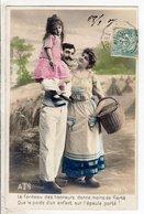Cpa Fantaisie Couple - Le Fardeau Des Honneurs - Couples