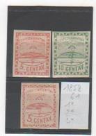 ARGENTINE 1858-61 YT N° 1-2-4 NEUFS* Trace De Charnière - Neufs
