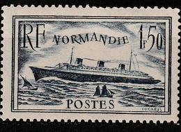 FRANCE   Paquebot Normandie     N° Y&T  299  * - France