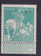 Timbre Belgique   97XX - 1910-1911 Caritas