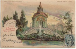 75 Exposition Universelle 1900 Le Palais Lumineux Ponsin (carte Transparente Tenir La Carte Vers Le Jour) - Mostre