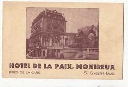 CPA - Suisse VD -Montreux- Hotel De La Paix  - Achat Immédiat - VD Vaud