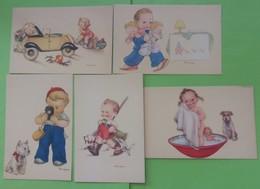 Lot De 5 Cartes Mariapia Casa Editrice Ballerini Et Fratini - Illustrateurs & Photographes