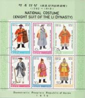 DPR Korea 1979 Sc. 1849a Li Dynasty Knights' Costumes Sheet Perf. CTO - Costumi