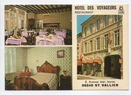 - CPM SAINT VALLIER SUR RHONE (26) - Hôtel-Restaurant DES VOYAGEURS 1986 - 2, Avenue Jean Jaurés - - Altri Comuni