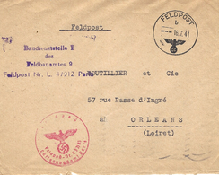 1941- Cover From Paris  Feldpost Nr. L. 4 / 912 To Orléans ( Loiret ) - Allemagne