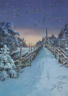 Church In Winter Landscape -  Raimo Partanen - Kerstmis