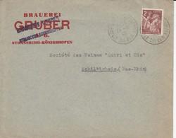Env Affr Y&T 653 Obl STRASBOURG KOENIGSHOFFEN Du 24.6.45 Adressée à Schitigheim - Postmark Collection (Covers)