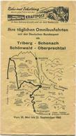 Deutschland - Omnibusfahrten Mit Der Deutschen Bundespost Ab Triberg Schonach Schönwald Oberprechtal - Fahrplan 1965 - Europe
