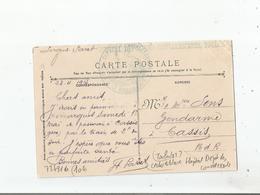 TOULON (VAR) CARTE AVEC CACHET MILITAIRE DE L'HOPITAL DES CONVALESCENTS TOULON 1915 - Poststempel (Briefe)