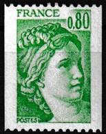 Timbre-poste Gommé Neuf** - Type Sabine Provenant De Roulettes - N° 1980 (Yvert) - France 1977 - Coil Stamps