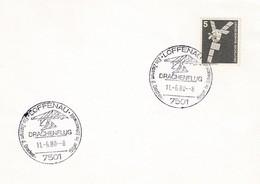 Germany 1980 Cover: Sport Drachen Fleigen Centre Loffenau;  Kites Fly - Stamps