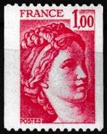 Timbre-poste Gommé Neuf** - Type Sabine Provenant De Roulettes - N° 1981 (Yvert) - France 1978 - Coil Stamps