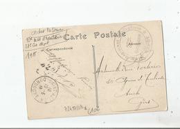 CARTE AVEC CACHET MILITAIRE DU 73 EME REGIMENT D'INFANTERIE 27 E COMPAGNIE DEPOT 1915 - Marcophilie (Lettres)
