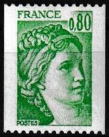Timbre-poste Gommé Neuf** - Type Sabine Provenant De Roulettes N° Rouge Au Verso (770) - N° 1980a (Yvert) - France 1977 - Coil Stamps