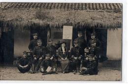 CASTELJALOUX GROUPE DE MILITAIRES CARTE PHOTO TRES ANIMEE - Autres Communes
