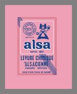 Diagramme Point De Croix - Publicité Ancienne - Levure Alsa - 381 - Point De Croix