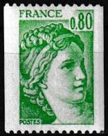 Timbre-poste Gommé Neuf** - Type Sabine Provenant De Roulettes N° Rouge Au Verso (810) - N° 1980a (Yvert) - France 1977 - Roulettes