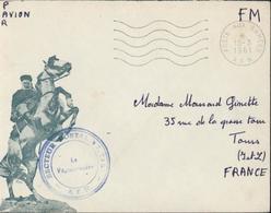 Guerre D'Algérie Enveloppe Illustrée Cachet SDecteur Postal 87715 Vaguemestre AFN CAD Poste Aux Armées 15 3 61 FM - Marcophilie (Lettres)
