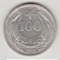 @Y@   Turkije  100  Kurus  1934     (4373) - Turkey