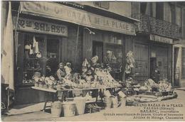 VALRAS PLAGE  GRAND BAZAR DE LA PLAGE  SALASC   PROPRIETAIRE   CARTE TRES RARE - France