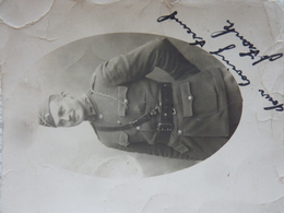 CP Photo, Militaire Anglais Ou Américain Avec Son Nom, Sd - Guerre 1914-18