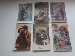Beau Lot De 60 Cartes Postales De Fantaisie      Mooi Lot Van 60 Postkaarten Fantasie   - 60 Scans - 5 - 99 Postkaarten