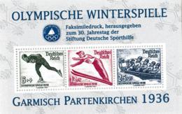 Facsimile Print Made By Stiftung Deutsche Sporthilfe - 1936 Olympic Games Garmisch Partenkirchen 1936 (Neudruck) (H56) - Winter 1936: Garmisch-Partenkirchen
