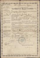 France Certificat De Bonne Conduite 49 Régiment De Ligne Fait Au Siège Sebastopol 4 Avril 1856 Armée D'Orient - Diploma & School Reports