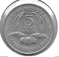 *guinea 5 Francs 1962  Km 4   Unc - Guinea