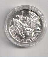 Monnaie Commémorative Argent Dans Sa Capsule / 1f 1993, Débarquement Du 6 Juin 1944 - France