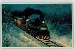 53027384 - 1906 Eisenbahn Neujahr - Anno Nuovo