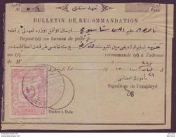 Jerusalem Registration Receipts Turkey Ottoman Palestine - Covers & Documents