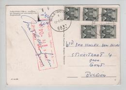 REf383/ PC Austria C.Sulz-Rothis 1976 Taxed T 4-50/600 > Belgien Gent Mechanical Postage Due 4 Frs Gent 5/8/76 - Postage Due