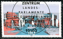 BRD - Mi 2110 - Zentisch OO Gestempelt (E) - 110Pf     Landtag Nordrhein-Westfalen - Oblitérés