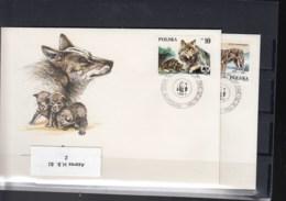 Polen Michel Cat.No. WWF Issue  2975/2978 FDC - 1944-.... Repubblica